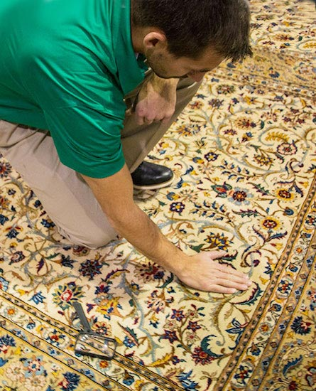 Our trained area rug cleaning techs will work to not only clean and sanitize your rugs but can bring the patterns and colors back to their vibrancy
