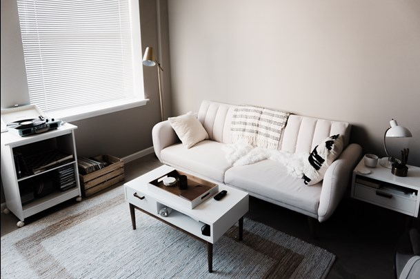 white sofa in Raleigh North Ca